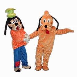 Doof und Pluto-Hundemaskottchen-Kostüm