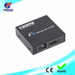 4K UHD Divisor HDMI 1X2 para LCD pared de vídeo