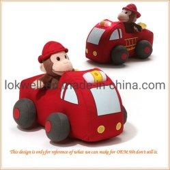 Фаршированные Пикап Plushlittle Monkey приводной машине игрушка