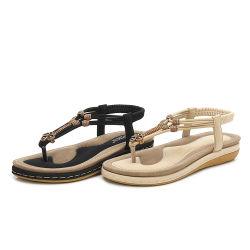 Moderne Dame Summer Beach Comfortable Sandals mit weicher flacher Ferse