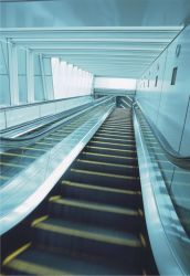 Inicio automático de 35 grados de escaleras interiores