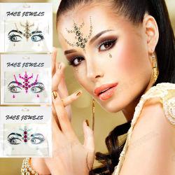 Stick sur face Gems Glitter partie stickers bijoux Rave oeil face