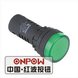 Onpow Anzeiger-Signal-Lampe mit 22mm Typen D von (AD16-22D/R/12V, 22mm) CCC, Cer