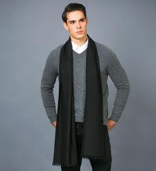100% Royal Cashmere Solid Color Herren Schal mit Fischgrätgewebe