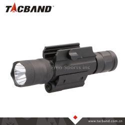 Pistola a fucile in alluminio tattico da 600 lumen luce laser rossa Torcia LED CREE