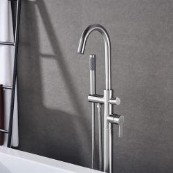 Plancher en acier inoxydable Baignoire Salle de bains de robinet robinet permanent