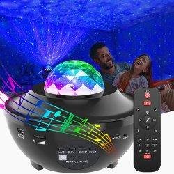 جهاز عرض Star Galaxy Night Light لجهاز عرض الأطفال من موجة المحيط جهاز عرض مع سماعة Bluetooth® للموسيقى