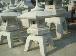자연 일본 스타일의 Stone Lantern 정원 장식 조경
