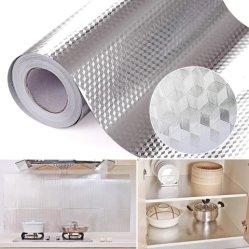 مطبخ [أيل-برووف] مسيكة [ألومينوم فويل] لاصقات [بفك] نفس لصوقة ورق جدار لأنّ خزانة [كونترتوب] مكتتبة منزل زخرفة ملصق مائيّ