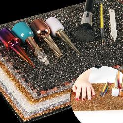 Jóias de cristal Arte Unha Ferramenta de suporte de mesa Almofada Almofada Mat&travesseiro para Manicure
