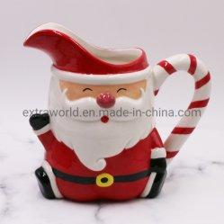 Le Père Noël de l'artisanat Céramique Handpainting pot à lait