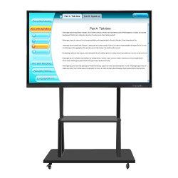 65-inch draagbaar interactief Whiteboard Multi Finger Touch LCD-scherm Voor Smart Classroom Eductaion
