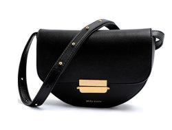 Mode Couleur Noir luxe Lady Sac à bandoulière Sac banane en cuir sac à main pour les femmes