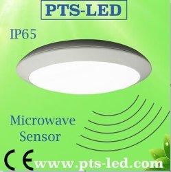 12-28W Водонепроницаемый светодиодный потолочный светильник с датчиком движения (IP65