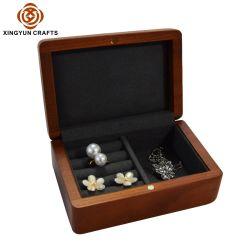 بيع بالجملة فاخرة صناعة مجوهرات مجوهرات صناديق تخزين المنظم الخشب المكسّر صندوق هدايا مجوهرات خشبي