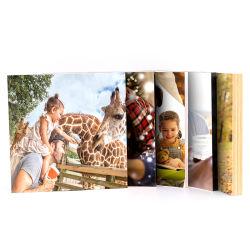 Серебристый и натурального дерева фотографий Picture Frame повесить на стену для подарка для проведения свадебных подарков