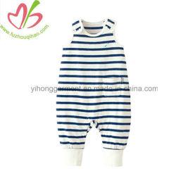 Marque et le logo personnalisé motif tricoté rayures bébé Romper de coton