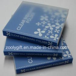 En plastique transparent d'impression personnalisé PP PVC Signet titulaire / Album livre