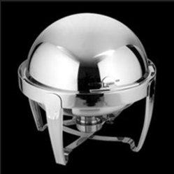 Los roces plato redondo de acero inoxidable con espejo pulido (ZZCL-WN2)