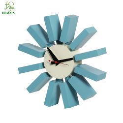 Modernes de Designer Nord maison de luxe moderne de style européen de bloc bleu Horloge murale en bois décoratifs