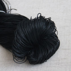 1mm noir Cordon coton ciré cire cordon Polyester étage Necklace cordon