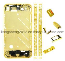 Diamond средней пластины корпуса лицевые панели для iPhone 4 (золотой цвет) (KS-DMP-4037)