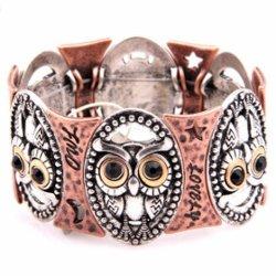 Dame Alloy Charm Bangle Bracelet