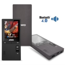 Bluetooth 4.0 портативного мультимедийного проигрывателя MP4 черного цвета