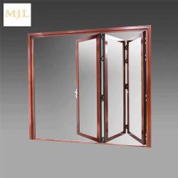 Dernières conceptions avant en verre en alliage aluminium porte pliante
