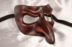デザインの凝った服党堅いプラスチック謝肉祭のマスク