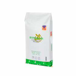 Commerce de gros d'usine 20kg 30kg de nourriture BOPP Sacs d'emballage de l'OPP Poulet sacs tissés d'alimentation animale 50kg avec logo