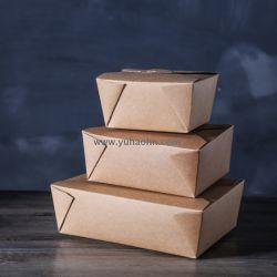 Vakje van het Voedsel van het Vakje van de Salade van het Vakje van de Lunch van het Document van kraftpapier het Draagbare Beschikbare Meeneem Verpakkende