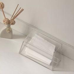 Porta-scatola rettangolare in acrilico di tipo moderno
