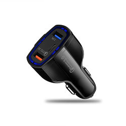 QC 3.0 Tipo C Carregador para Automóvel rápido rápido dupla Adaptador USB para iPhone Huawei