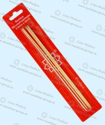Twee Breinaalden van de Sok van het Bamboe van het Eind met het Pakket van de Blaar