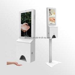 montaggio 21.5inch che si leva in piedi facente pubblicità al chiosco dell'affissione a cristalli liquidi del prodotto disinfettante della mano della visualizzazione del video