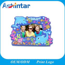 Cadeau promotionnel de la décoration personnalisée de l'image 3D de châssis en PVC souple colorée Cadre Photo en caoutchouc