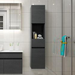 ラッカーを塗られた合板のメラミン現代側面のキャビネットの浴室無し