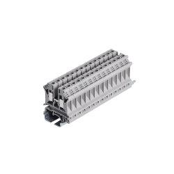 La CE y RoHS aprobó los pasadores de bloque de terminales 1P-15p de 10 mm2 de bloque de terminales de riel DIN