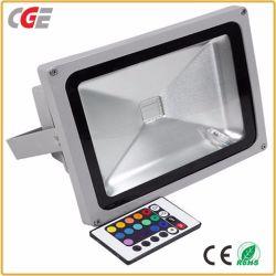 Farbenreiches 10With20With30With40With50With100W LED Flut-Licht RGB-mit Fernsteuerungs-LED-Flut-Lampen RGB-Flutlicht