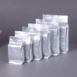 18*28 láminas de aluminio de grado alimentario tipo cremallera de la bolsa de embalaje de plástico