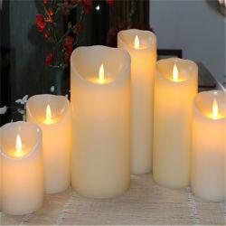 LEIDENE Zonder vlammen van de Pijler van de Was van de Kaarsen van het Huis van de Levering van de fabriek Decoratieve Witte Kaars