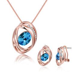 Le design de mode de zircon bijoux Set Necklace and Earrings