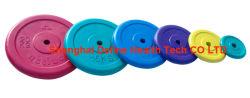 Pesas libres y accesorios, freeweights,pesa y racks,gimnasio en casa y accesorios,1'' de goma de colores de la placa de peso - ACS-005