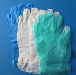 Одноразовые синего цвета Порошок свободного виниловых перчаток на складе