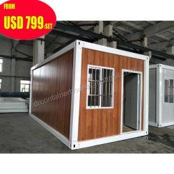 La Cina pre favolosa/hanno prefabbricato/ufficio/Camera del contenitore di legno di piegatura giardino mobile portatile molto piccolo prefabbricato del pacchetto piano baracca pieghevole pronta/