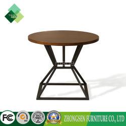 Верхней Части продажи дешевой деревянной из нержавеющей стали круглого стола кофе