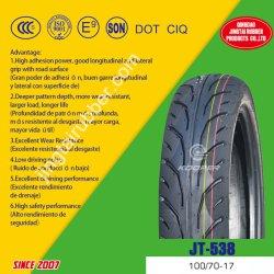 Neuer Nylonvorspannungs-Gummireifen-Naturkautschuk-schlauchloser Motorrad-Reifen /Tire (100/90-17) des riemen-8pr mit ISO, CCC-PUNKT, E-MARK