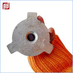 Gato de tornillo ajustable personalizables de la base de la tuerca de fundición andamios
