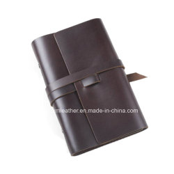 Brown Journal lié A4 A5 le capot souple pu l'ordinateur portable en cuir